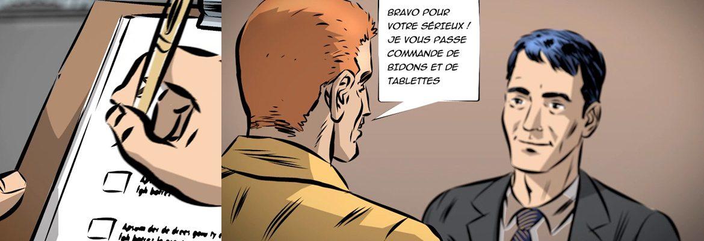 film de communication comics